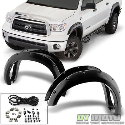 For [4PC] 2007-2013 Toyota Tundra Bolt On Rivet Pocket Wheel Cover Fender Flares