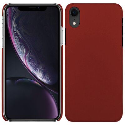 Hardcase für Apple iPhone XR Hülle gummiert Rubber Schutz Case - Rot Rot Hard Case