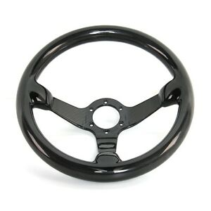 Hiwowsport Genuine Carbon Fiber Racing Steering Wheel 300mm Diameter Bolts Black