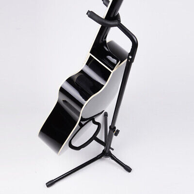 New Black Guitar Stand On Stage Single Holder Display Electric Acoustic Bass