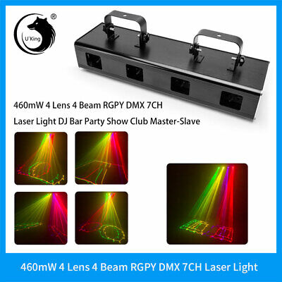 460mW RGYV 4  Lens DJ LED DMX Laser Stage Light Party Lighting projector Show](Party Projector)