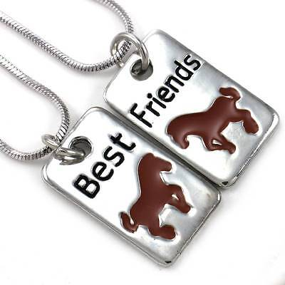 Horse Pony Mustang Best Friend Forever BFF Necklace Pendant Animal Lover Dog