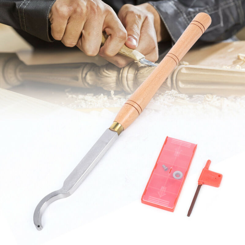 Wood Turning Tool Set Suitable For Ordinary Lathe And Cnc Lathe 48*4*2cm Silver
