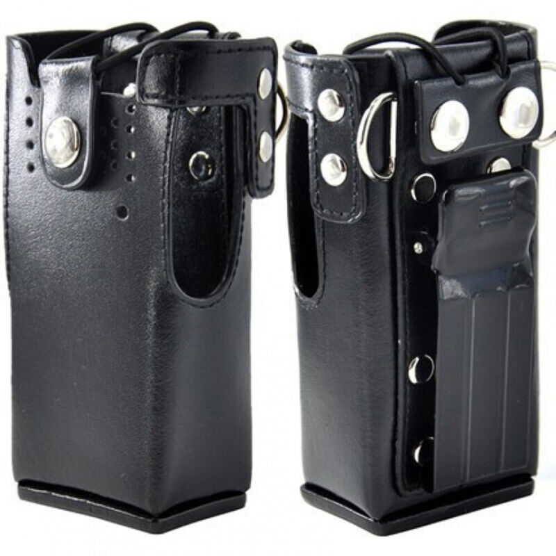 Hard Leather Case Carrying Holder Holster For Motorola Two Way Radio USA