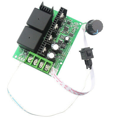 10-50v 40a Pwm Dc Motor Speed Controller Cw Ccw Reversible Plus Driver