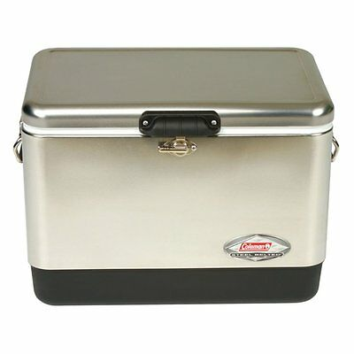 Coleman 54 qt. Belted Cooler, Stainless Steel