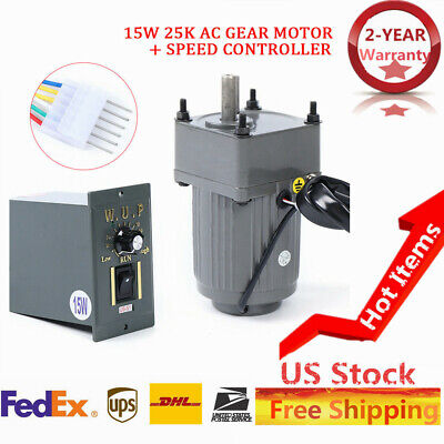 110v15w 25k Ac Gear Motor Electric Variable Speed Reduction Controller 540rpm