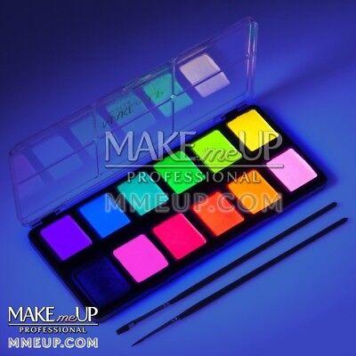 Neon Face paint Fluorescent Palette color body Painting party glowing UV Makeup