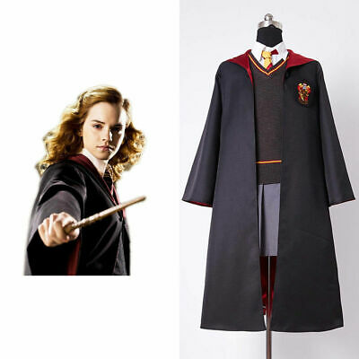 Hermione Granger Outfit (Kid &Adult Hermione Granger Gryffindor Cosplay Costume Outfit Uniform Suit)