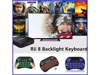 Wireless Keyboard BACKLIT Rii i8 For Samsung Smart TV PC Android TV BOX