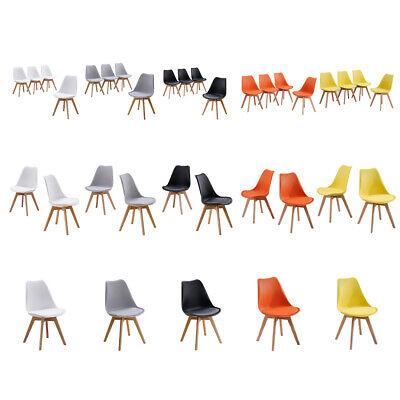 Tulip 1 2 4 Design Dining Chairs Chair Retro Plastic Kitchen Furniture