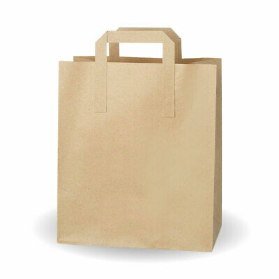 Large Kraft SOS Bags - Case of 250 - Recyclable Paper Carrier Bags