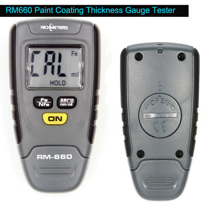 Rm660 Coating Thickness Gauge Digital Lcd Display Car Paint Tester 0-1.25mm Edd