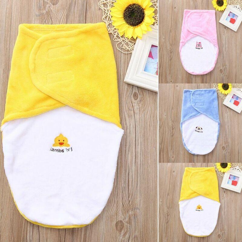 0-24M Newborn Baby Boy Girl Flannel Swaddle Blanket Wrap Sle