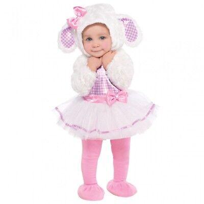 Baby Plüsch Kostüm Lamm Schäfchen Little Lamb Kleinkind - Kleine Rosa Lamm Baby Kostüm