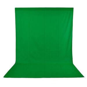 Phot-R 3x3m Photo Studio Non-Woven Backdrop Background Green Screen Chroma Key