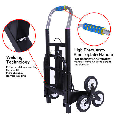 Us 330lb Folding Climbing Stair Cart Hand Truck Dolly Adjustable Height Trolley