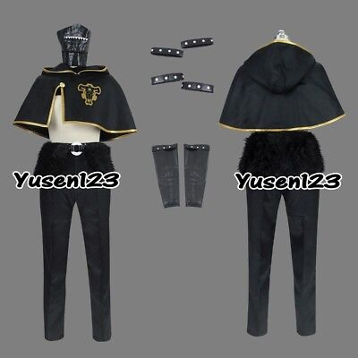 Black Clover Zora Ideale Cosplay Costume Comic Con Halloween Male Outfit Mask