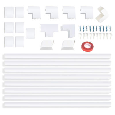 Cable Concealer Wall Wire Cord Cover Raceway Kit  anagement Channel (Wire Duct Cover)