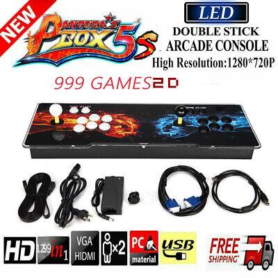 US Pandora's Box 5S 999 Game In 1 Retro Video Game Double Stick Arcade Console