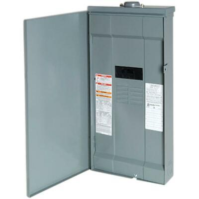 Outdoor Main Breaker 200 Amp 16 Circuit 8 Space Panel Feed Thru Lugs Cover