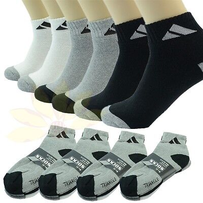 Adi 12 Pairs Ankle Quarter Crew Mens Sport Socks Cotton Low Cut Size 9 11 10 13