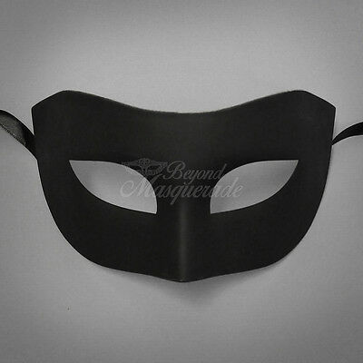 Black Simple & Elegant Masquerade For Men Mask Costume Prom Party Mask](Simple Masquerade Masks)