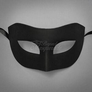 Black Simple u0026 Elegant Masquerade For Men Mask Costume Prom Party Mask & Masquerade Costume Men | eBay