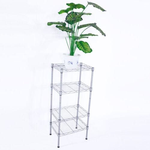 "32"" 4 Tier Shelves Wire Shelving Rack Shelf Adjustable Stora"