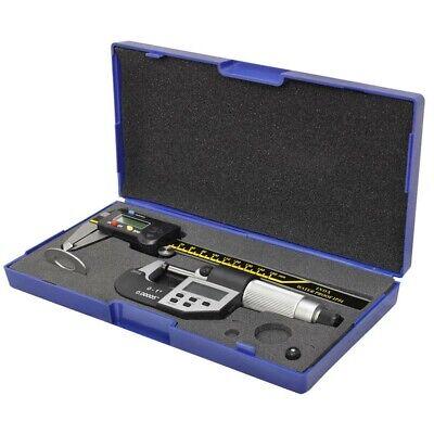 6 Ip54 150mm Digital Caliper 0-25mm Micrometer Combo Inox Waterproof