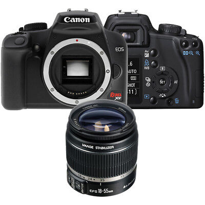 Canon Rebel XS Black EOS SLR Camera with EF-S 18-55mm f/3.5-5.6 IS II Lens