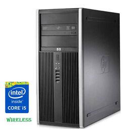 Windows 10 HP Elite 8100 Tower PC Computer CORE i5 WITH Adobe Photoshop wireless