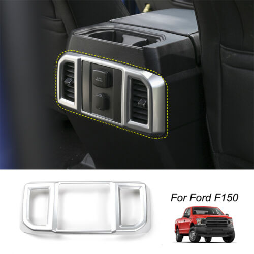 Carbon Fiber Grain Interior Rear Air Conditioner Outlet Vent Cover ABS Car Accessories 1PC for Ford F-150 F150 2015 2016 2017 2018 2019 Bishop Tate for F-150 Car Air Vent Cover