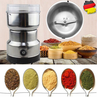 Kaffeemühle Elektrisch Coffee Grinder Espresso Mühle für Kaffeebohnen Nüsse 150W