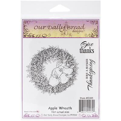 Our Daily Bread Cling Stamps Apple Wreath   New