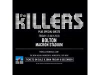 2 Killers Tickets - 13th July Bolton