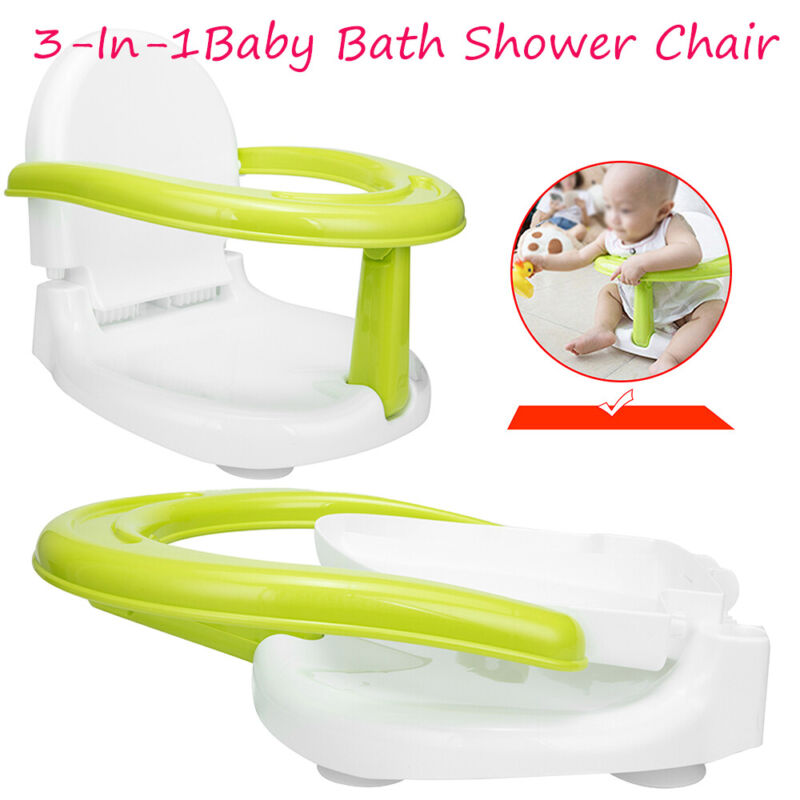 3-In-1 Foldable Infant Baby Bath Shower Chair Anti-Skid Toddler Seat Newborn Hot