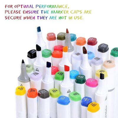 Ohuhu 80 PCS Dual Tip Brush Twin Marker Pens for Adult Coloring Drawing - Colors For Kids