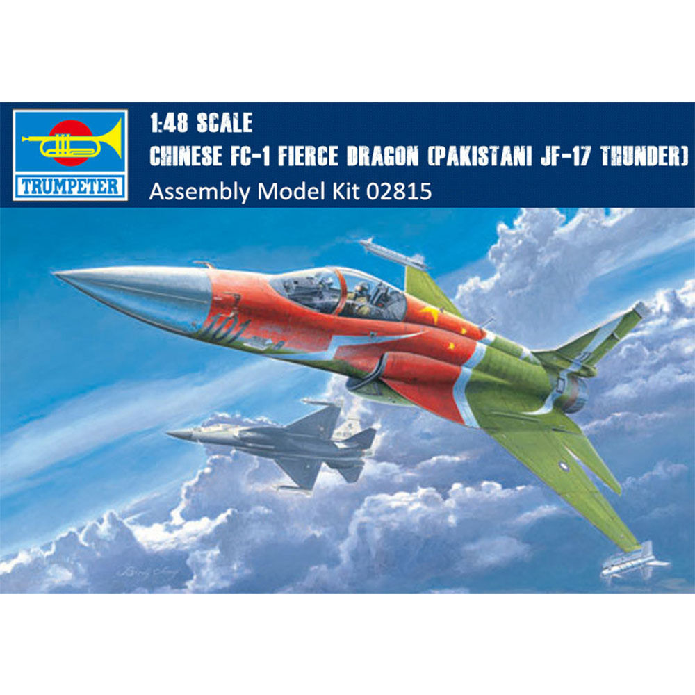 Details about Trumpeter Chinese Fierce Dragon FC-1 02815 1/48(Pakistani  JF-17 Thunder) Fighter