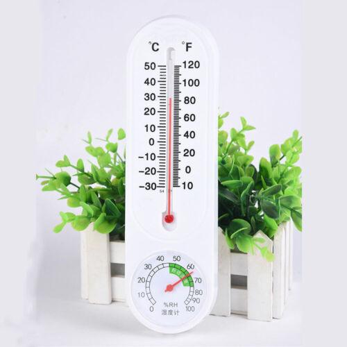 Outdoor Indoor Wall Thermometer Hygrometer Garden Greenhouse