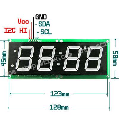 1.2-inch 4-digit 7-segment Led Display Ht16k33 I2c Clock Temperature Display