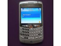 Silver Blackberry 8310 Smart Phone on o2 - Excellent Condition £15 (Post for £18)