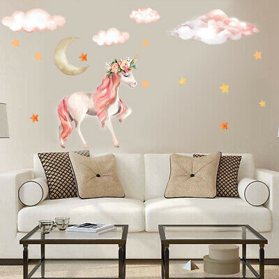 Home Decoration - Star Moon Cloud Unicorn Art Wall Sticker Kids Room Girls Bedroom Decal Decor DIY