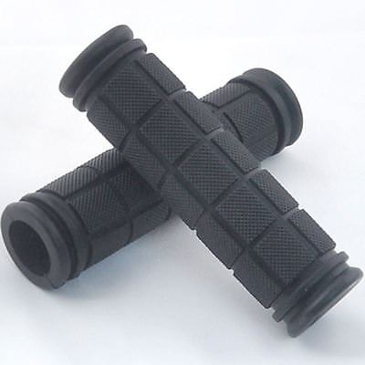 New Black Square Textured Bike Handlebar Grips 4.72in Length (2 Per (Mountain Bike Handlebar Length)