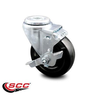 Hard Rubber Swivel Bolt Hole Caster W4 Wheel Brake