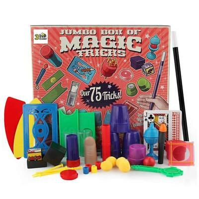 75 Magic Tricks Kit Set Kids Toy Wand for Beginners - Boy Girl Gift - 6+ wand - Magic Kit