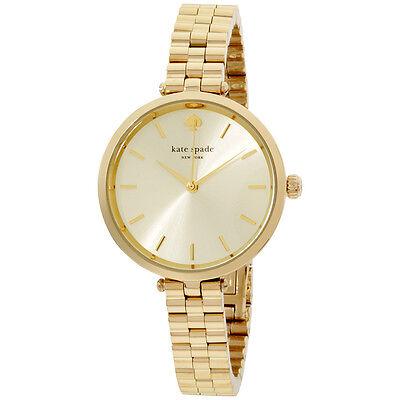 Kate Spade Holland Gold Tone Dial Stainless Steel 34 mm Ladies Watch 1YRU0858