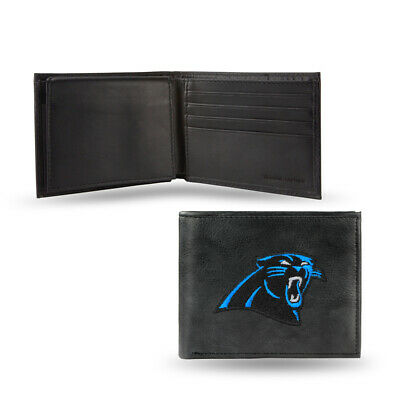Carolina Panthers Embroidered Leather - Carolina Panthers Embroidered Leather Billfold Wallet NEW in Gift Tin