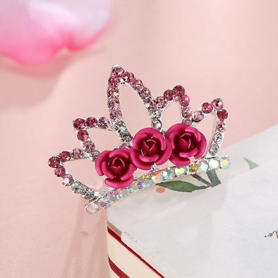 Princess Hairclip Crown Hairpin For Girls Kids Gift Hair Jewelry Hair Comb - Gifts For Princesses