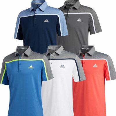 adidas Golf 2020 Ultimate365 Colourblock Mens Short Sleeve Polo Shirt